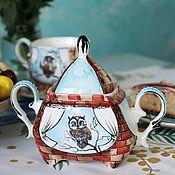 handmade. Livemaster - original item Sugar bowl porcelain