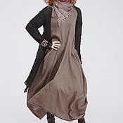 Одежда ручной работы. Ярмарка Мастеров - ручная работа Бохо платье 4-20 умбра. Handmade.