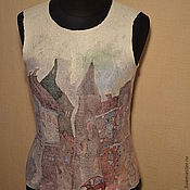 """Одежда ручной работы. Ярмарка Мастеров - ручная работа Топ  """"Питер FM"""" нунофелтинг. Handmade."""
