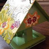 """Для дома и интерьера ручной работы. Ярмарка Мастеров - ручная работа Кормушка для птиц """"Летняя свежесть"""". Handmade."""