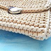 Сумки и аксессуары handmade. Livemaster - original item Knitted bag from t-shirt yarn. Handmade.