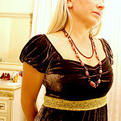 Украшения handmade. Livemaster - original item Beads from natural stones of strawberry quartz and pomegranate. Handmade.