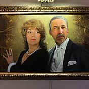 """Картины и панно ручной работы. Ярмарка Мастеров - ручная работа """"Семейный портрет"""". Handmade."""