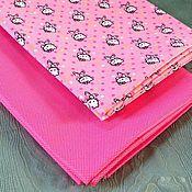 Материалы для творчества ручной работы. Ярмарка Мастеров - ручная работа Плащевая ткань Китти на розовом. Handmade.