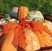 Для дома и интерьера ручной работы. Ярмарка Мастеров - ручная работа Текстильная тыква веселенькая. Handmade.