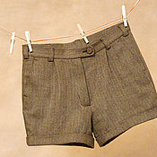 Одежда ручной работы. Ярмарка Мастеров - ручная работа Классические шорты с манжетами. Handmade.