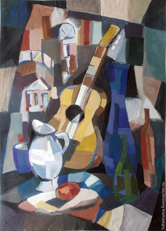 Картина. Натюрморт с гитарой работа Татьяны Петровской