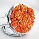 Декорированные зеркальца ручной работы. Мандаринки ........... ' Рыжая кошка '. Интернет-магазин Ярмарка Мастеров. Рыжий, апельсин, зеркальце
