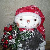 Куклы и игрушки ручной работы. Ярмарка Мастеров - ручная работа Снеговик со снежинкой. Handmade.