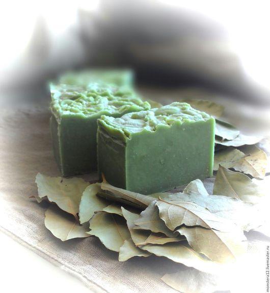 """Мыло ручной работы. Ярмарка Мастеров - ручная работа. Купить """"Зейтун"""" натуральное алеппское  мыло с нуля.. Handmade. Зеленый"""