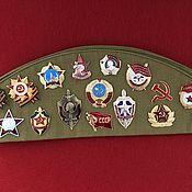 Аксессуары handmade. Livemaster - original item Soldier`s cap SOVIET UNION. Handmade.