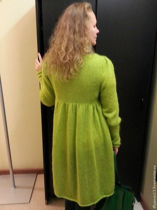Пиджаки, жакеты ручной работы. Ярмарка Мастеров - ручная работа. Купить кардиган. Handmade. Ярко-зелёный, мягкий