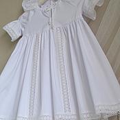 Работы для детей, ручной работы. Ярмарка Мастеров - ручная работа крестильное платье ВАРВАРА. Handmade.