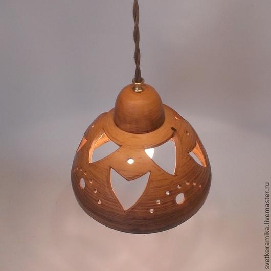 Освещение ручной работы. Ярмарка Мастеров - ручная работа. Купить Светильник с глубоким плафоном на подвесе. Handmade. Керамический плафон