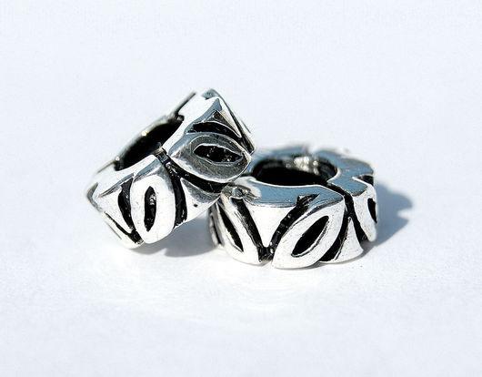 Для украшений ручной работы. Ярмарка Мастеров - ручная работа. Купить Европейская шарм бусина для браслета серебро 925. Handmade.