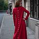 """Платья ручной работы. Платье """"Полет"""" длинное,красное. Poza (poza-fashion). Ярмарка Мастеров. Красное платье, осень, мода"""