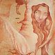 Картина огненная дева