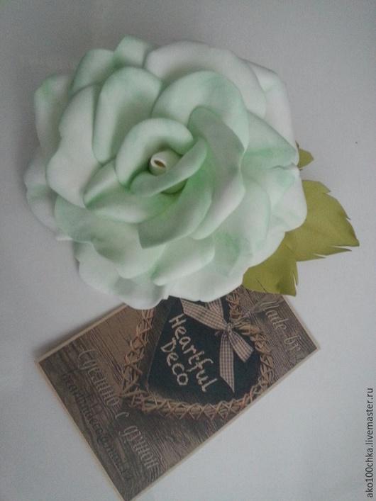 """Броши ручной работы. Ярмарка Мастеров - ручная работа. Купить Брошь """"Роза"""" из фоамирана. Handmade. Роза, цветы в украшении"""