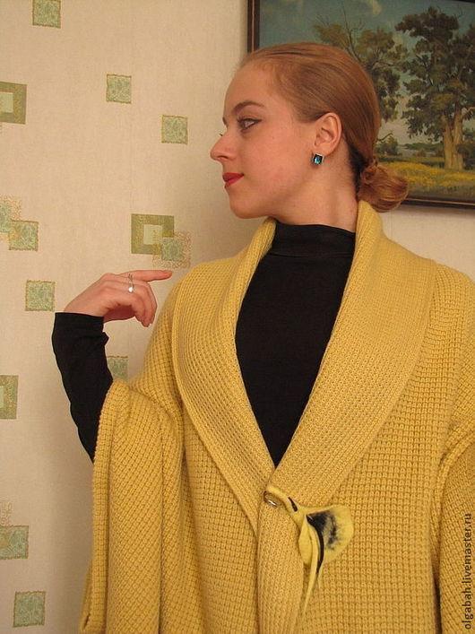 Верхняя одежда ручной работы. Ярмарка Мастеров - ручная работа. Купить Кимоно-2. Handmade. Лимонный