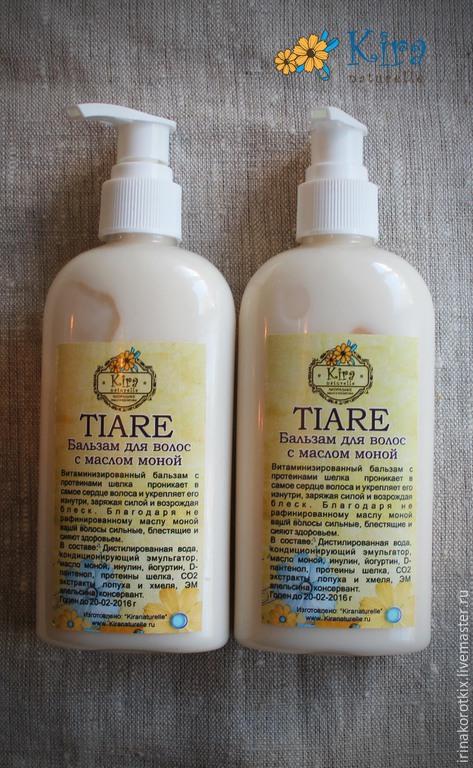 Бальзам для волос ручной работы. Ярмарка Мастеров - ручная работа. Купить Tiare, бальзам для волос с маслом Моной. Handmade. Белый