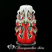 Свечи ручной работы. Ярмарка Мастеров - ручная работа Резная свеча 259. Handmade.