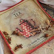 """Для дома и интерьера ручной работы. Ярмарка Мастеров - ручная работа Поднос """"Tea"""" (двухсторонний). Handmade."""