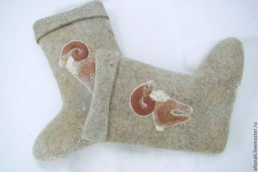 """Обувь ручной работы. Ярмарка Мастеров - ручная работа. Купить Валенки мужские """"Символ года"""". Handmade. Серый, валенки"""