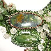 Украшения handmade. Livemaster - original item Dew on the edge of the forest. Handmade.