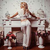 """Комплекты белья ручной работы. Ярмарка Мастеров - ручная работа Восточный комплект """"Нежность Востока"""" - белый свадебный. Handmade."""