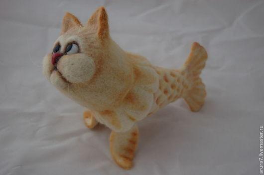 Игрушки животные, ручной работы. Ярмарка Мастеров - ручная работа. Купить Которыб (Морской Котик) Валяная игрушка. Handmade. Белый