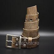 Ремни ручной работы. Ярмарка Мастеров - ручная работа Кожаный ремень ручной работы. Handmade.