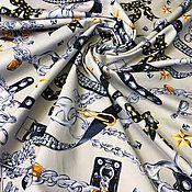 Материалы для творчества handmade. Livemaster - original item Fabric: Cotton tight stretch Moschino. Handmade.