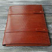 Folder handmade. Livemaster - original item Folder for documents made of genuine leather. Handmade.