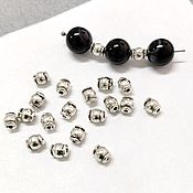 Материалы для творчества handmade. Livemaster - original item Metal beads, Beads separating Barrels. Handmade.