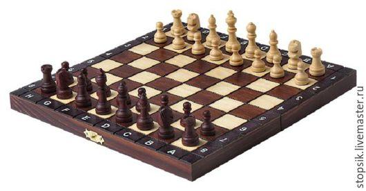 Настольные игры ручной работы. Ярмарка Мастеров - ручная работа. Купить Шахматы Кларнет (мини,6019). Handmade. Чёрно-белый