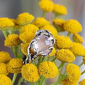 Украшения handmade. Livemaster - original item Silver ring with cut rose quartz