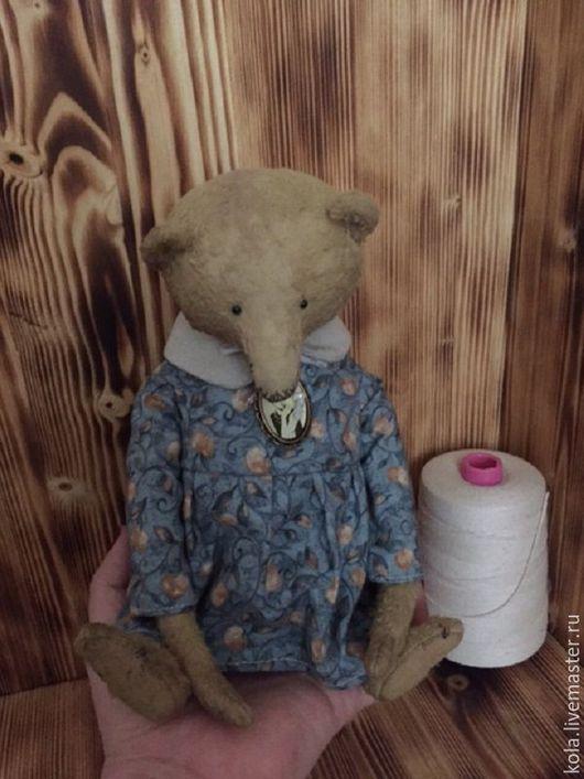 Мишки Тедди ручной работы. Ярмарка Мастеров - ручная работа. Купить Ефросиния. Handmade. Бежевый, мишка в платье, опилки древесные