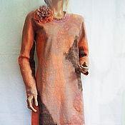 Одежда handmade. Livemaster - original item Wool dress Apricot. Handmade.