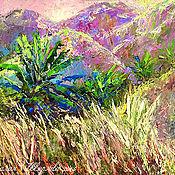 """Картины и панно ручной работы. Ярмарка Мастеров - ручная работа Картина горы """"Северный Таиланд. Mae Salong"""" картина с горами маслом. Handmade."""