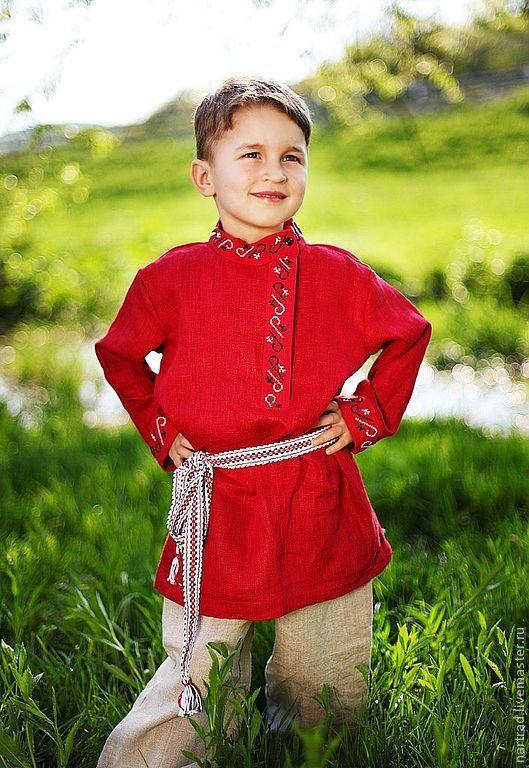 Одежда ручной работы. Ярмарка Мастеров - ручная работа. Купить Русский народный костюм для мальчика. Handmade. Русский стиль, косоворотка