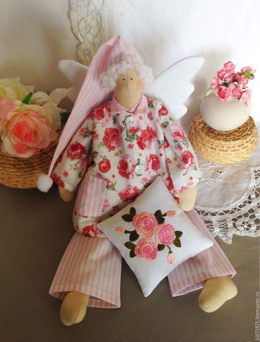 """Куклы Тильды ручной работы. Ярмарка Мастеров - ручная работа. Купить Сплюшка """" Чайная роза"""". Handmade. Сплюшка, сонный"""