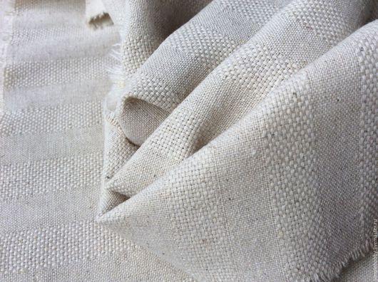 """Шитье ручной работы. Ярмарка Мастеров - ручная работа. Купить Лен с выработкой """"Неотбеленный"""". Handmade. Лён натуральный, ткань для одежды"""