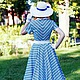 """Платья ручной работы. Заказать Платье в стиле 50-х """"Bluesky"""". Анна-Лиза (Мода вне времени ТМ). Ярмарка Мастеров."""