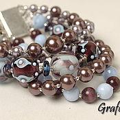 Украшения handmade. Livemaster - original item Bracelet with stones and pearls. Handmade.