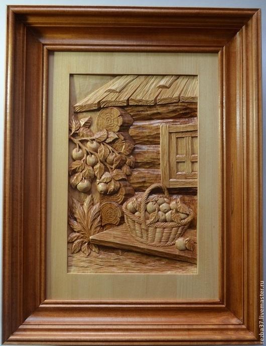 Пейзаж ручной работы. Ярмарка Мастеров - ручная работа. Купить Урожай.. Handmade. Коричневый, подарок для семьи, картина для дома