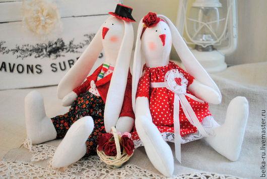 Куклы Тильды ручной работы. Ярмарка Мастеров - ручная работа. Купить Сладкая парочка. Handmade. Ярко-красный, синтепон
