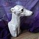 Статуэтки ручной работы. Ярмарка Мастеров - ручная работа. Купить Бюст собаки породы левретка. Handmade. Разноцветный, бюст, борзая