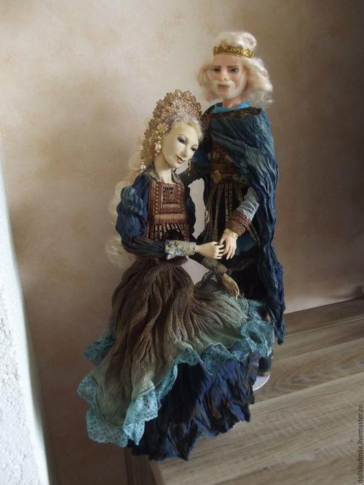 Коллекционные куклы ручной работы. Ярмарка Мастеров - ручная работа. Купить Авторские коллекционные куклы из полимерной глины Петр и Феврония. Handmade.