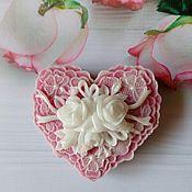 Косметика ручной работы handmade. Livemaster - original item Soap Heart with roses 2. Handmade.