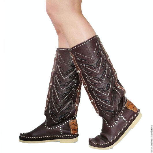Обувь ручной работы. Ярмарка Мастеров - ручная работа. Купить Летние сапоги INDIANINI DOC /коричневые/40 размер в наличие. Handmade.